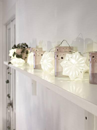 Konstsmide 3192-103 Motiv-Lichterkette Schneeflocken LED Warm-Weiß Beleuchtete Länge: 1.98 m