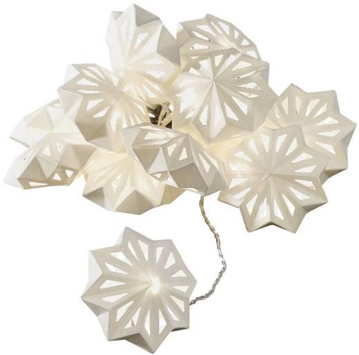 Motiv-Lichterkette Schneeflocken LED Warm-Weiß Beleuchtete Länge: 1.98 m Konstsmide 3192-103