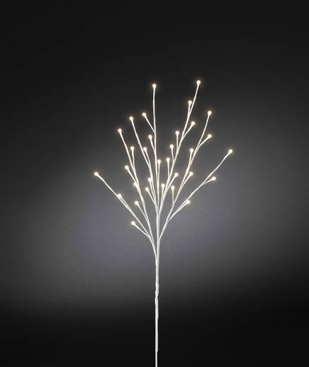 Boden-Dekoration Lichterzweig Warm-Weiß LED Konstsmide 3369-100 Weiß