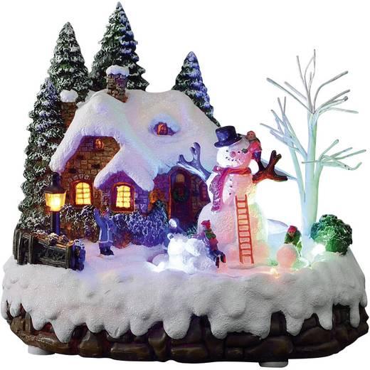 LED-Weihnachtsdekoration Haus mit Schneemann LED Konstsmide 3495-000 Bunt