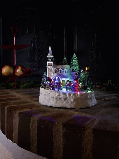 LED-Szenerie Haus mit spielenden Kindern Bunt LED Konstsmide 3496-000 Bunt