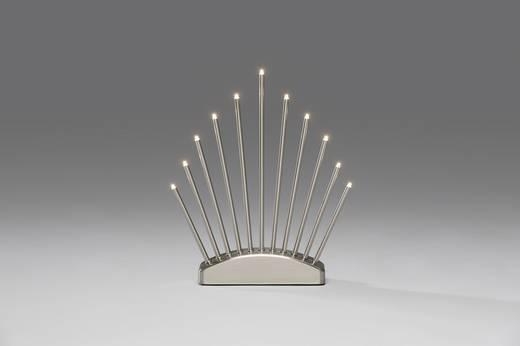 Konstsmide 3537-900TR Tisch-Dekoration Metallleuchter Warm-Weiß LED Aluminium (gebürstet)