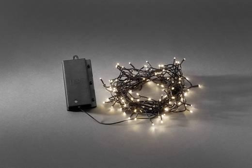 Micro-Lichterkette Außen batteriebetrieben 120 LED Warm-Weiß Konstsmide 3729-100