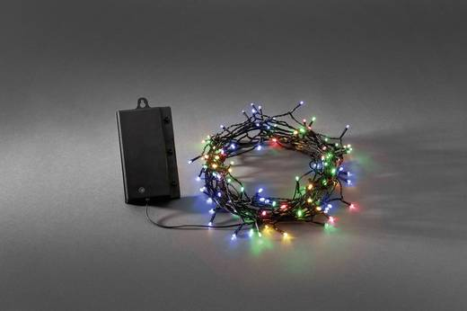 Konstsmide 3729-500 Micro-Lichterkette 120 LED Bunt Beleuchtete Länge: 12 m