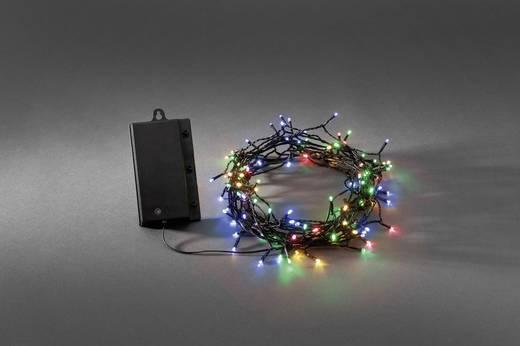 Micro-Lichterkette 120 LED Bunt Beleuchtete Länge: 12 m Konstsmide 3729-500