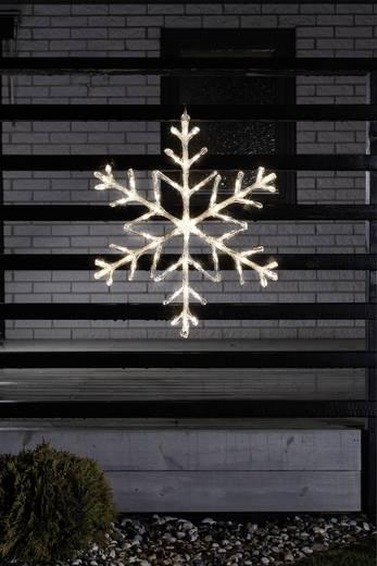 Konstsmide 4460-143 Acryl-Figur Schneeflocken Warm-Weiß LED