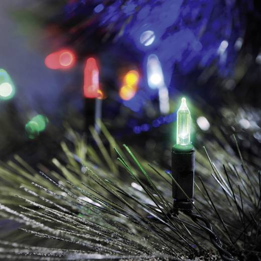Mini-Lichterkette LED Bunt Beleuchtete Länge: 11.85 m Konstsmide 6021-500