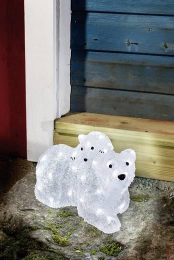 Acryl-Figur Eisbär Kalt-Weiß LED Konstsmide 6191-203 Weiß