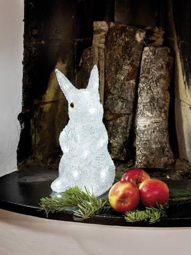 Acryl-Figur Hase Kalt-Weiß LED Konstsmide 6194-203 Transparent