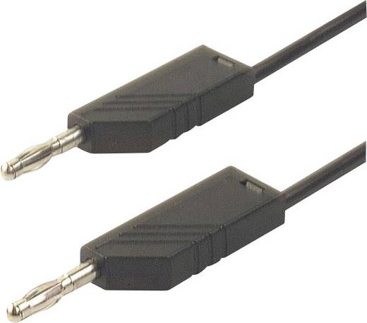 Messleitung [ Lamellenstecker 4 mm - Lamellenstecker 4 mm] 1.50 m Schwarz SKS Hirschmann CO MLN 150/2,5