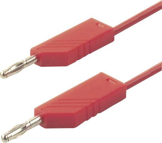 Messleitung [ Lamellenstecker 4 mm - Lamellenstecker 4 mm] 0.50 m Rot SKS Hirschmann CO MLN 50/2,5