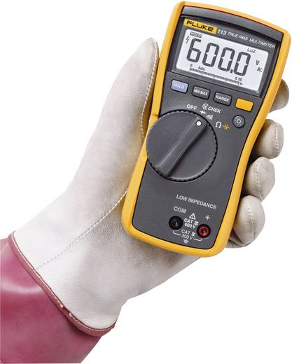 Hand-Multimeter digital Fluke 113 Kalibriert nach: Werksstandard (ohne Zertifikat) CAT III 600 V Anzeige (Counts): 6000