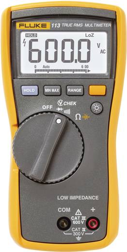 Hand-Multimeter digital Fluke 113 Kalibriert nach: Werksstandard CAT III 600 V Anzeige (Counts): 6000