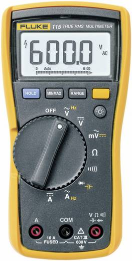 Hand-Multimeter digital Fluke 115 Kalibriert nach: Werksstandard CAT III 600 V Anzeige (Counts): 6000