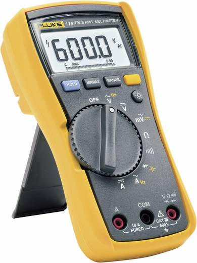 Fluke 115 Hand-Multimeter digital Kalibriert nach: Werksstandard (ohne Zertifikat) CAT III 600 V Anzeige (Counts): 6000