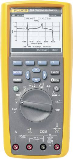Hand-Multimeter digital Fluke 289/EUR Kalibriert nach: DAkkS Grafik-Display, Datenlogger CAT III 1000 V, CAT IV 600 V An