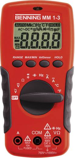 Benning MM 1-3 Hand-Multimeter digital Kalibriert nach: ISO CAT II 1000 V, CAT III 600 V Anzeige (Counts): 2000