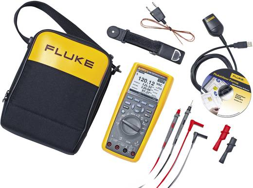 Hand-Multimeter digital Fluke 289/FVF/EUR Kalibriert nach: Werksstandard Grafik-Display, Datenlogger CAT III 1000 V, CAT IV 600 V Anzeige (Counts): 50000