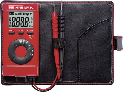 Hand-Multimeter digital Benning MM P3 Kalibriert nach: Werksstandard CAT II 600 V, CAT III 300 V Anzeige (Counts): 4000