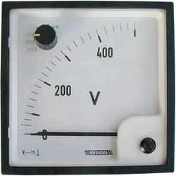 Analogový vestavný měřicí přístroj Weigel EQ 72 SWT, 0 - 500 V/ AC