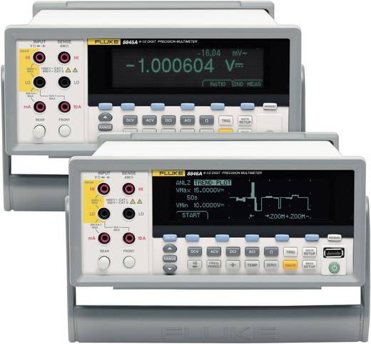 Tisch-Multimeter digital Fluke 8845A/SU Kalibriert nach: ISO CAT II 600 V Anzeige (Counts): 200000