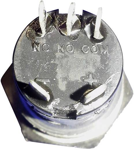 Klingeltaster beleuchtet 1fach Renkforce 1227542 Edelstahl, Weiß 24 V DC/ 2 A, 24 V AC/ 1 A