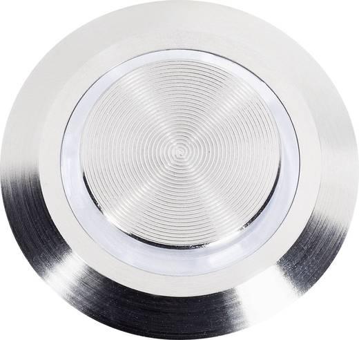 Klingeltaster beleuchtet 1fach Renkforce 1227546 Edelstahl, Weiß 24 V DC/ 2 A, 24 V AC/ 1 A