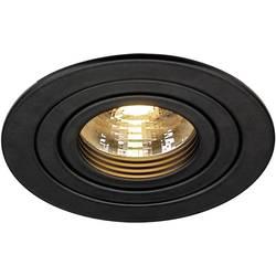 Zabudovateľný krúžok - halogénová žiarovka SLV New Tria 113490 GU10, 50 W, čierna