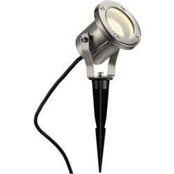 LED , úsporná žiarovka, halogénová žiarovka záhradný reflektor Nautilus Spike 229740, GU10, 35 W, nerezová oceľ