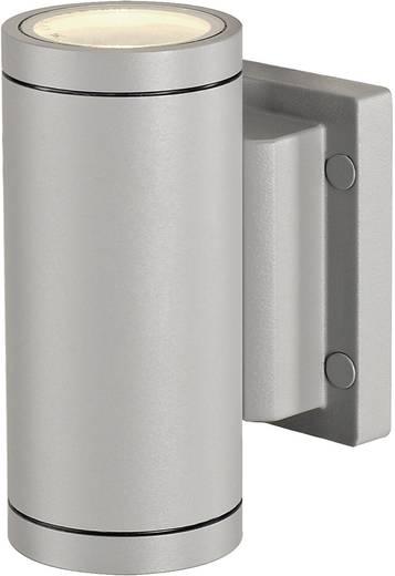 Außenwandleuchte Halogen GU10 70 W SLV New Myra Wall Up & Down 233114 Silber-Grau