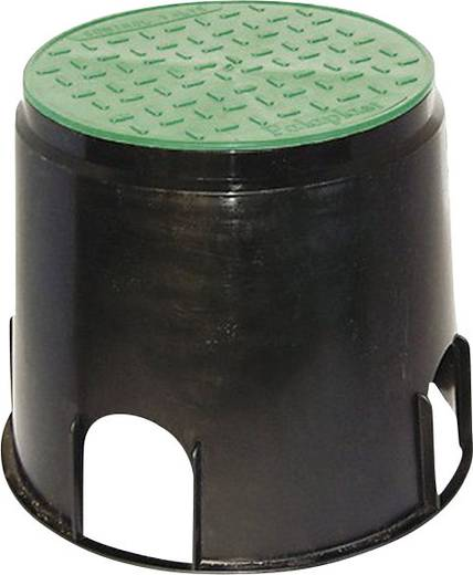 Bodeneinbaudose Schwarz, Grün Heitronic 21035