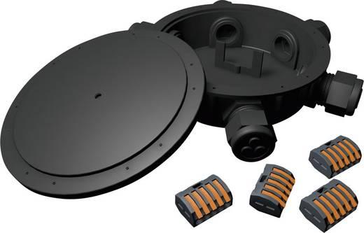 5fach Verteiler 24 V 45 mm Heitronic 21038 Schwarz