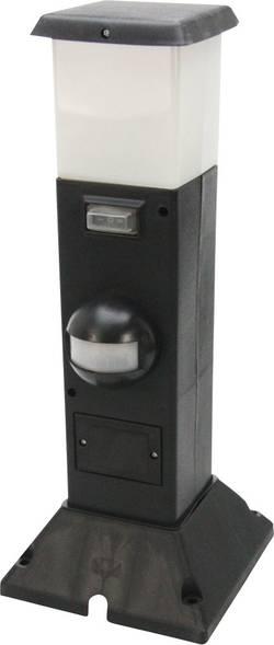 Zahradní zásuvka s detektorem pohybu PIR a LED světlem Heitronic, 35111, 2násobná schuko
