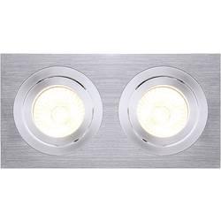 Zabudovateľný krúžok - halogénová žiarovka SLV New Tria II 111362 GU10, 100 W, hliník (kartáčovaný)