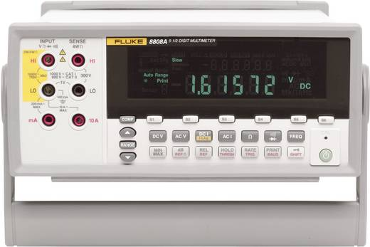Fluke 8808A/SU Tisch-Multimeter digital Kalibriert nach: ISO CAT II 600 V Anzeige (Counts): 20000