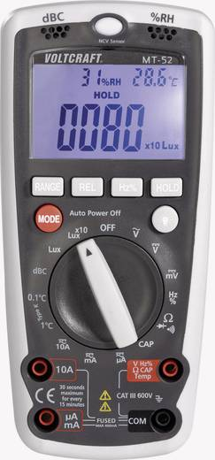 Hand-Multimeter digital VOLTCRAFT MT-52 Kalibriert nach: ISO Umwelt-Messfunktion CAT III 600 V Anzeige (Counts): 4000