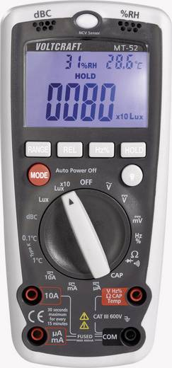 Hand-Multimeter digital VOLTCRAFT MT-52 Kalibriert nach: Werksstandard Umwelt-Messfunktion CAT III 600 V Anzeige (Counts): 4000
