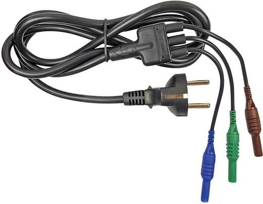 Sicherheits-Messleitungs-Set [Schutzkontakt-Stecker - Stecker 4 mm] 1.5 m Blau, Grün, Braun Cliff CIH29950