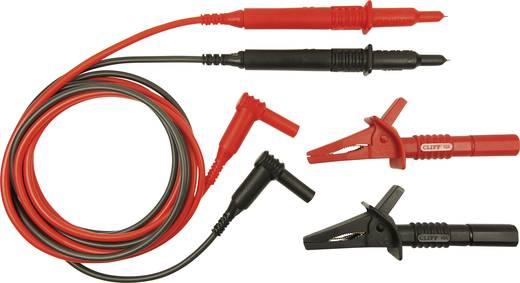 Sicherheits-Messleitungs-Set [Stecker 4 mm - Prüfspitze] 1.5 m Rot, Schwarz Cliff CIH29890