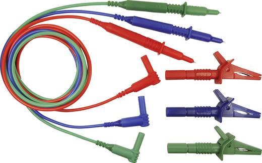 Sicherheits-Messleitungs-Set [Stecker 4 mm - Prüfspitze] 1.5 m Blau, Grün, Rot Cliff CIH29917