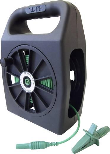 Sicherheits-Messleitungs-Set [Stecker 4 mm - Buchse 4 mm] 30 m Grün Cliff CIH299430
