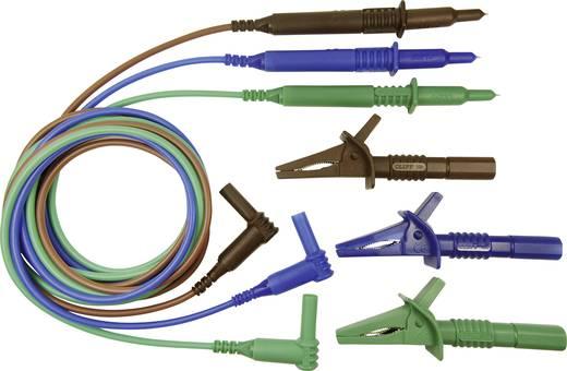 Sicherheits-Messleitungs-Set [Stecker 4 mm - Prüfspitze] 1.5 m Blau, Grün, Braun Cliff CIH29915