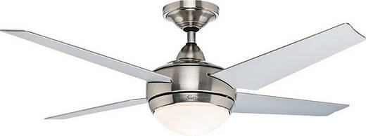 Hunter Ventilateur de plafond Sonic BN Deckenventilator (Ø) 132 cm Flügelfarbe: Grau Gehäusefarbe: Chrom (gebürstet)