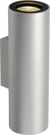 Wandleuchte GU10 100 W LED, Halogen SLV Enola_B 151804 Silber-Grau, Schwarz