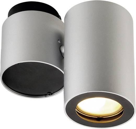 Deckenstrahler Energiesparlampe, LED GU10 50 W SLV Enola_B 151824 Silber-Grau, Schwarz