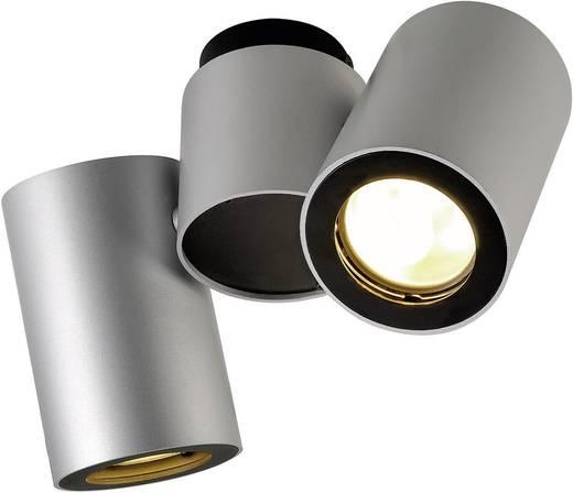 Deckenstrahler Energiesparlampe, LED GU10 100 W SLV Enola_B 151834 Silber-Grau, Schwarz