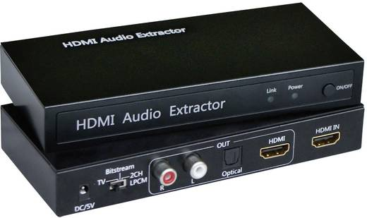 Audio Extraktor [HDMI - HDMI, Toslink, Cinch] 1920 x 1080 Pixel SpeaKa Professional SP-AE-H/TC-02
