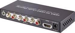 Audio extraktor HDMI zásuvka ⇒ cinch zásuvka, Toslink zásuvka (ODT), HDMI zásuvka, jack zásuv