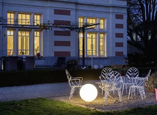 Gartenleuchte Kugel Energiesparlampe E27 23 W SLV Rotoball Floor 227221 Weiß
