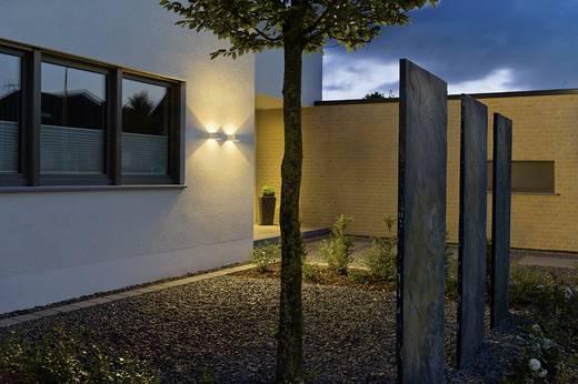 LED-Außenwandleuchte 6 W Warm-Weiß SLV Logs Wall 232104 Silber-Grau